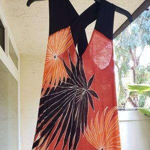 RACHEL Rachel Roy Maxi Dress Red Palm Tree Print S